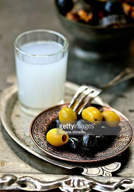 Olives and raki