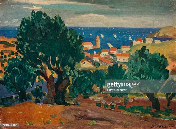 Olives at Collioure' 1911 Painting held in the National Museums of Northern Ireland Belfast From The Studio Volume 96 Artist James Dickson Innes