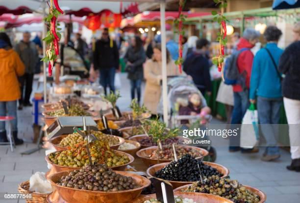 Olives at Market in France