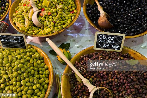 Olives for Sale at Market in Antibes