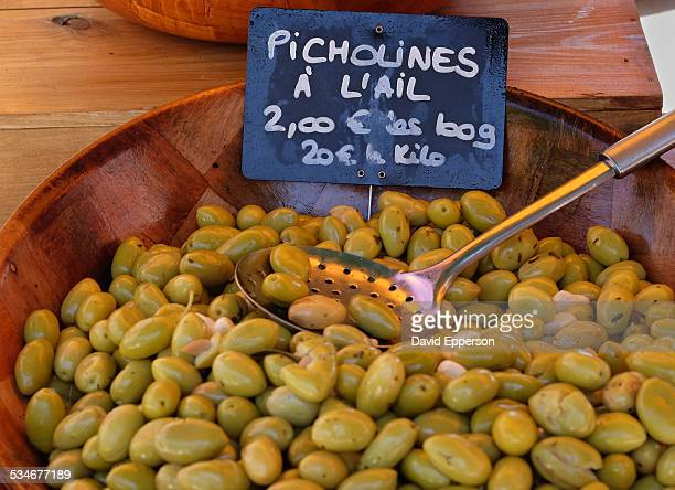 Olives in outdoor market in Provence