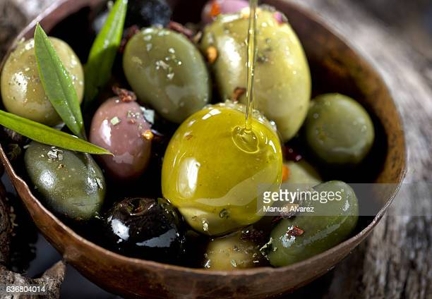 olives - kalamata olive stock photos and pictures
