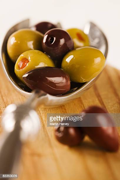 olives - olive pimento stock photos and pictures