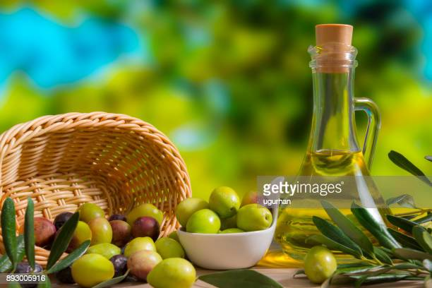 olives - extra virgin olive oil stock pictures, royalty-free photos & images