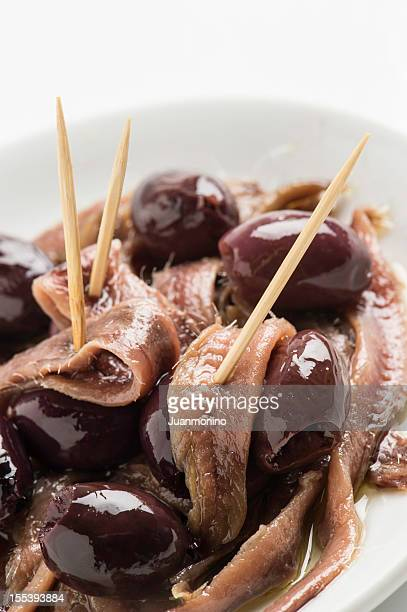 Olives with anchovies