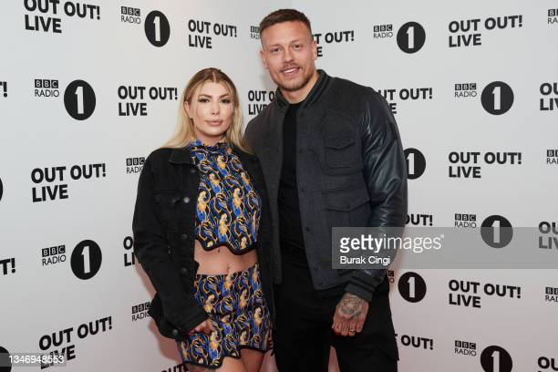 Olivia and Alex Bowen attend BBC Radio 1 Out Out! Live 2021 at Wembley Arena on October 16, 2021 in London, England.