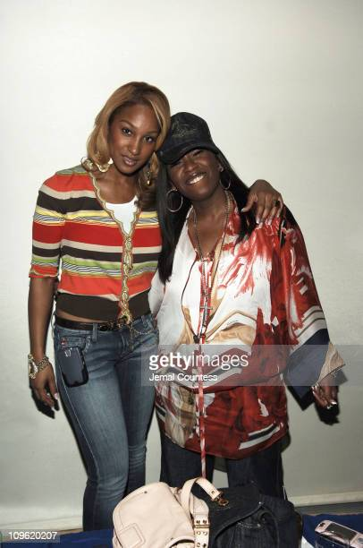 Olivia and Missy Elliott during Sprite Street Couture Showcase Arrivals and Afterparty at Guastavino's in New York City New York United States