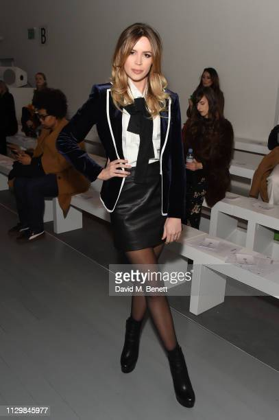 Olivia Arben attends the Bora Aksu show during London Fashion Week February 2019 at BFC Show Space on February 15, 2019 in London, England.