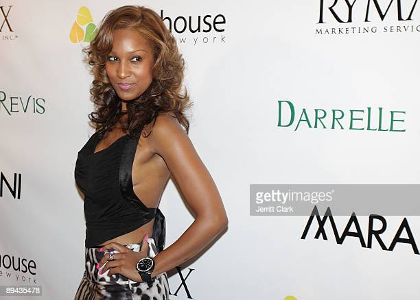 Olivia attends Darrelle Revis' birthday party at Greenhouse on July 28 2009 in New York City