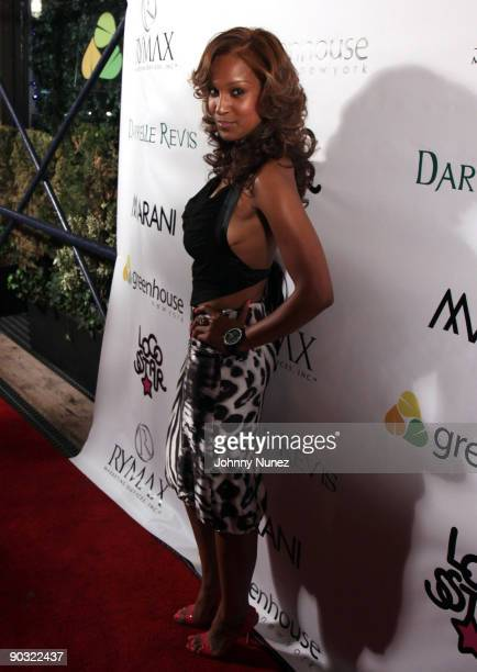 Olivia attends Darrelle Revis' birthday party at Greenhouse on July 28 2009 in New York New York