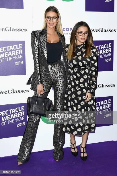 Olivia Attwood and Amber Davies attend the Specsavers 'Spectacle Wearer Of The Year' at 8 Northumberland Avenue on October 24 2018 in London United...