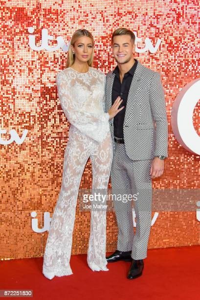 Olivia Attwood and Chris Hughes arriving at the ITV Gala held at the London Palladium on November 9 2017 in London England