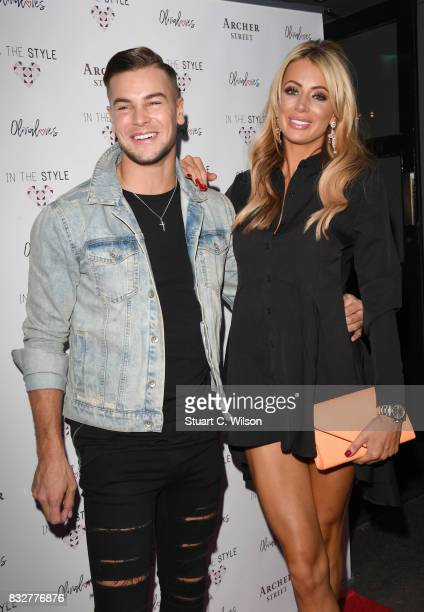 Olivia Attwood and Chris Hughes attend the In The Style Olivia Attwood launch party at Archer Street on August 16 2017 in London England