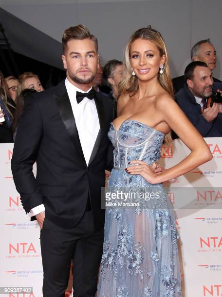 Olivia Attwood and Chris Hughes attend the National Television Awards 2018 at The O2 Arena on January 23 2018 in London England