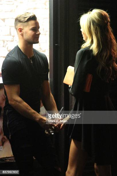Olivia Attwood and Chris Hughes attending the launch of the Olivia Attwood In The Style edit on August 16 2017 in London England