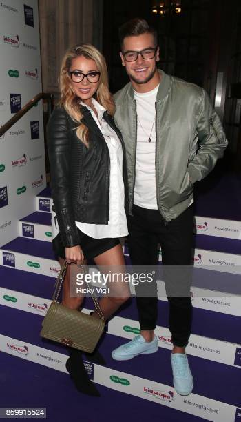 Olivia Attwood and Chris Hughes seen attending Specsavers' Spectacle Wearer of the Year at 8 Northumberland Avenue on October 10 2017 in London...