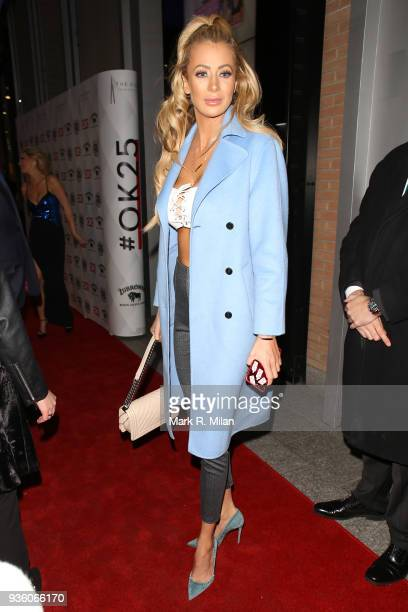 Olivia Attwood attending the OK Magazine's 25th anniversary party at the Shard on March 21 2018 in London England
