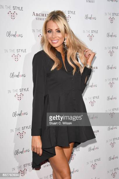 Olivia Attwood attends the In The Style Olivia Attwood launch party at Archer Street on August 16 2017 in London England