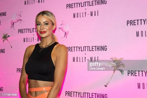 Olivia Attwood attends the Pretty Little Thing X MollyMae party at Rosso on September 01 2019 in Manchester England