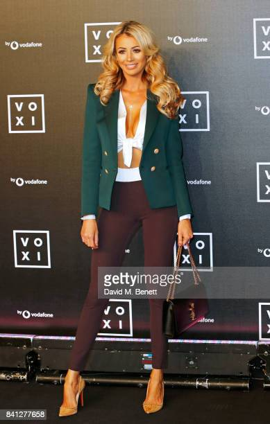 Olivia Attwood attends the VOXI launch party at Brick Lane Yard on August 31 2017 in London England