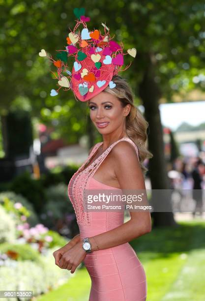 Olivia Attwood during day three of Royal Ascot at Ascot Racecourse.