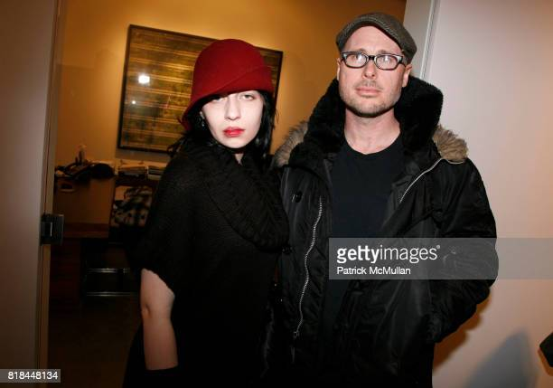 Olivia Baseman and Mark Veltman attend ERWIN OLAF Opening Reception at Hasted Hunt Kraeutler on January 28 2010 in New York