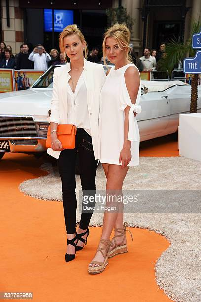 Olivia Bentley and Frankie Gaff attend the The Nice Guys UK Premiere at Odeon Leicester Square on May 19 2016 in London England