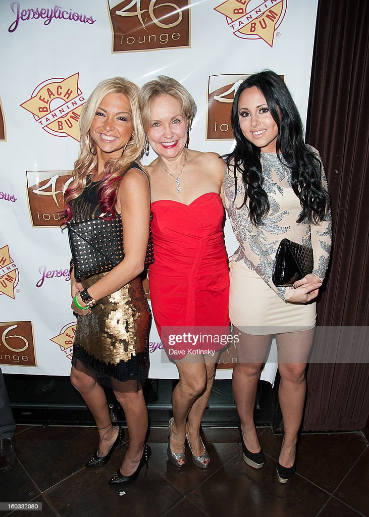 Olivia Blois Sharpe, Kim Granatell and Jackie N Carmelo Bianchi attend 'Jerseylicious' Season 5 Premiere Celebration at 46 Lounge on January 28, 2013 in Totowa City.