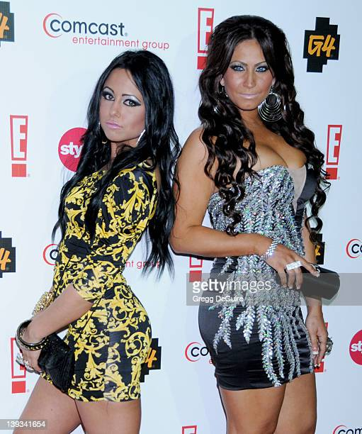 Olivia Bloise Sharpe and Tracy DiMarco of Jerseylicious arrives at the Comcast Entertainment Group TCA Cocktail Reception at the Beverly Hilton Hotel...