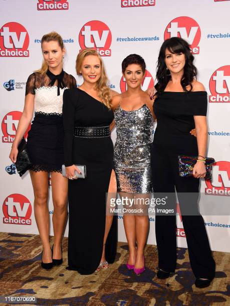 Olivia Bromley Natalie Ann Jamieson Isabel Hodgins and Laura Norton attending the TV Choice Awards held at the Hilton Hotel Park Lane London