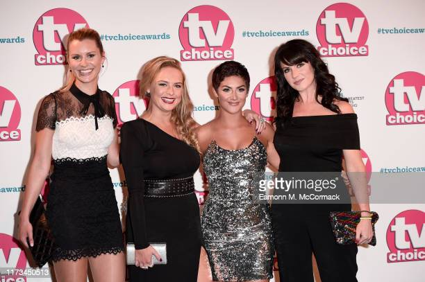 Olivia Bromley Natalie Ann Jamieson Isabel Hodgins and Laura Norton attend The TV Choice Awards 2019 at Hilton Park Lane on September 09 2019 in...