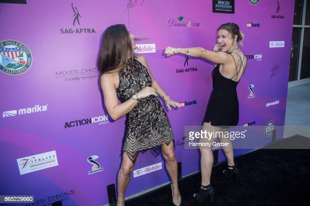 Olivia Brown and Kate Cochran attend the 10th Annual Action Icon Awards at Sheraton Universal on October 22 2017 in Universal City California