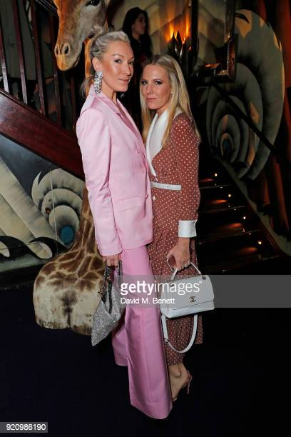 Olivia Buckingham and Alice NaylorLeyland attend the LOVE and MIU MIU Women's Tales Party at Loulou's on February 19 2018 in London England