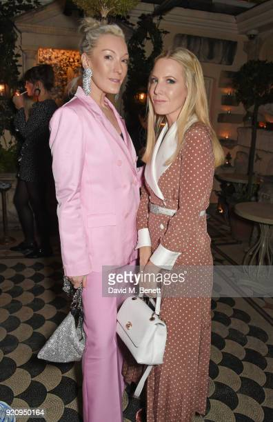 Olivia Buckingham and Alice NaylorLeyland attend the LOVE x Miu Miu Women's Tales dinner hosted by Katie Grand and Elle Fanning at Loulou's on...