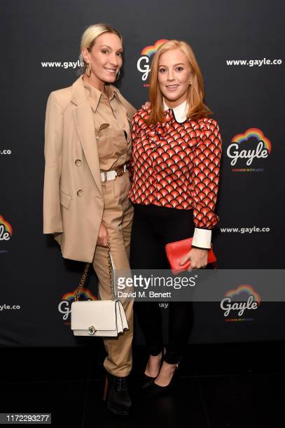 Olivia Buckingham and SarahJane Mee attends Australia's Gayle Lager and Cider launch at The W Hotel supporting the LGBTQ community on September 04...