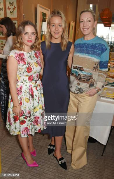 Olivia Buckingham poses with Espie Roche cofounders Alexandra RocheHamilton and Hermione Espie Underwood at the Espie Roche launch breakfast at The...