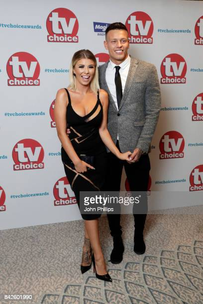 Olivia Buckland and Alex Bowen arrive for the TV Choice Awards at The Dorchester on September 4 2017 in London England