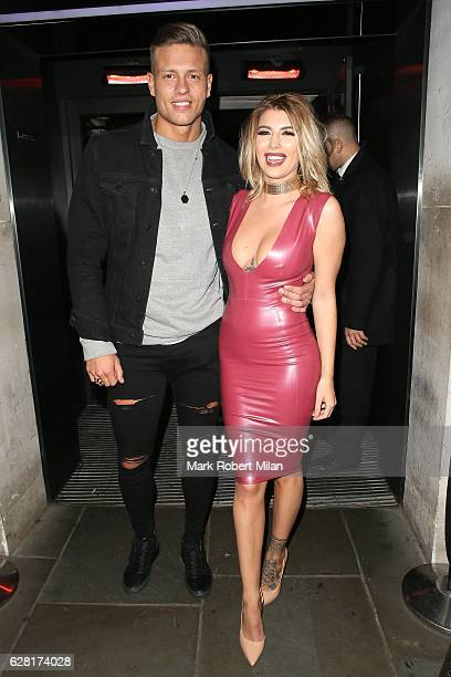 Olivia Buckland and Alex Bowen at Radio bar on December 6 2016 in London England