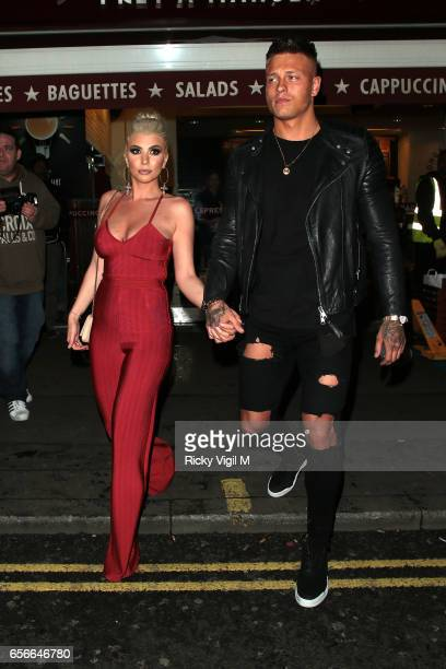 Olivia Buckland and Alex Bowen attend Sixty6 Magazine issue two launch party at Paper club on March 22 2017 in London England