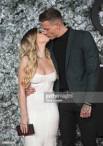 Olivia Buckland and Alex Bowen attend the European Premiere of 'Collateral Beauty' at Vue Leicester Square on December 15 2016 in London England