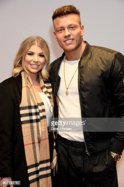 Olivia Buckland and Alex Bowen attend the 'Fast and Furious Live' premiere at The O2 Arena on January 19 2018 in London England
