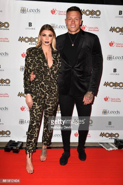 Olivia Buckland and Alex Bowen attend the MOBO Awards at First Direct Arena Leeds on November 29 2017 in Leeds England