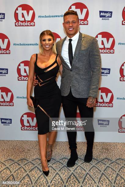 Olivia Buckland and Alex Bowen attend the TV Choice Awards at The Dorchester on September 4 2017 in London England