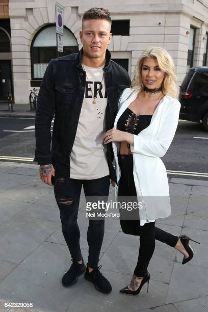 Olivia Buckland and Alex Bowen seen at Angus Chiang at Fashion Scout Freemason's Hall on Day 1 of London Fashion Week February 2017 on February 17...
