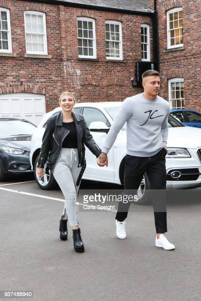 Olivia Buckland and Alex Bowen shopping for their new home in Arighi Bianchi ahead of their wedding on March 24 2018 in Macclesfield England