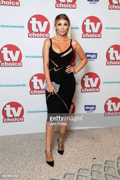 Olivia Buckland arrives for the TV Choice Awards at The Dorchester on September 4 2017 in London England