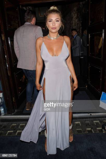 Olivia Buckland arriving at Cafe de Paris on May 20 2017 in London England