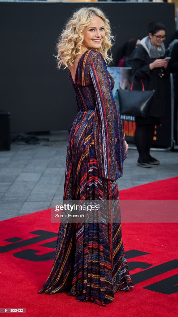 Olivia Buckland attends the European Premiere of 'Rampage' at Cineworld Leicester Square on April 11, 2018 in London, England.