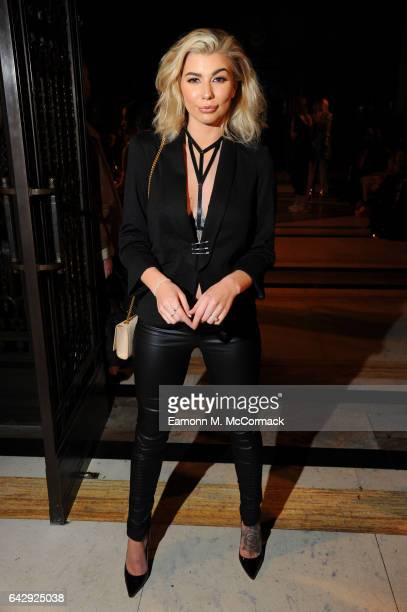Olivia Buckland attends the House Of Mea show during the London Fashion Week February 2017 collections on February 19 2017 in London England