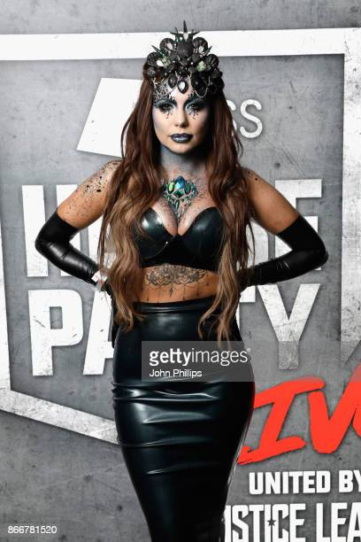 Olivia Buckland attends the Kiss Haunted House Party held at SSE Arena on October 26 2017 in London England